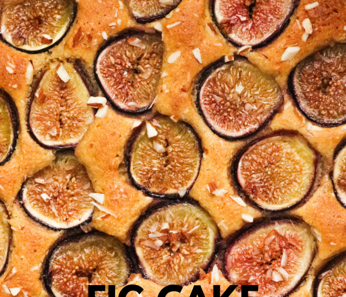 Healthy, Gluten Free Fresh Fig Cake