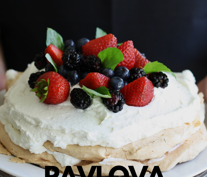 Healthy Pavlova with Mascarpone Cream &  Fresh Fruits Recipe